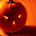 Halloween glowing pumpkin