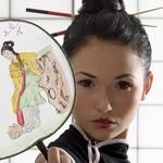 japanese girl in classical dress