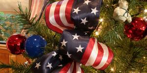 American christmas ribbon