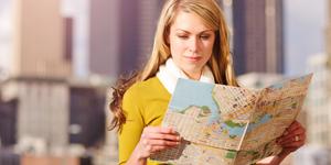 Traveling woman