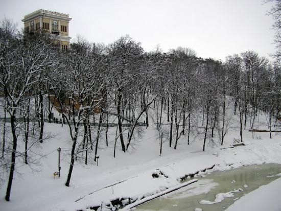 Лебяжий пруд зимой