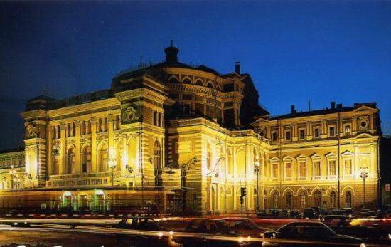 Мариинский театр ночью