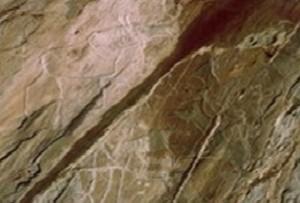 Пасущийся лось - памятник эпохи неолита в Братске