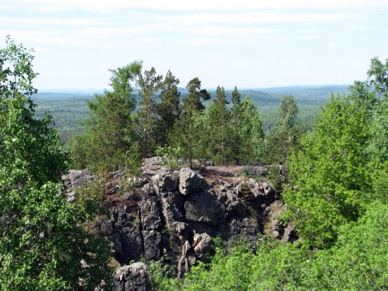 гора Азов на Урале