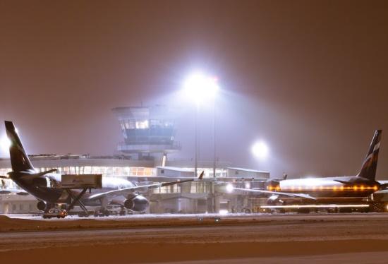 Аэропорт Шереметьево зимой