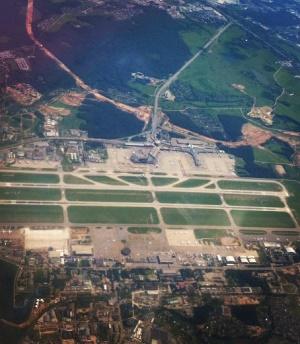 Международный аэропорт Шереметьево с высоты
