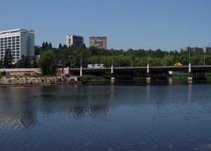 Нижнекальмиусское водохранилище в Донецке