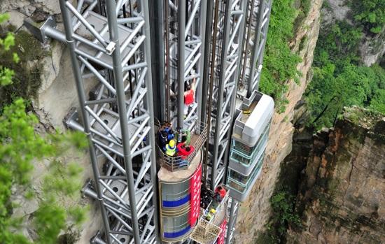 Самый высокий наружный Лифт Байлонг, Китай