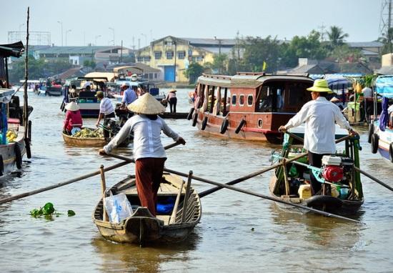 Плавающий рынок в Кантхо