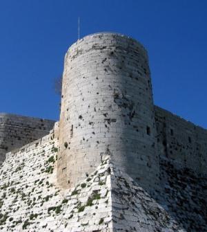 Юашня замка Крак Де Шевалье в Сирии